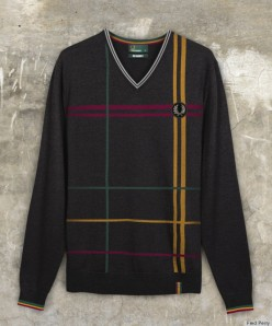 o-NO-DOUBT-FRED-PERRY-570 v-neck sweater